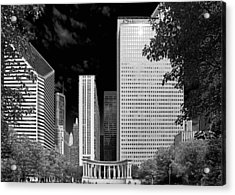 Millennium Park Monument - The Colonnade - Wrigley Square Chicago Acrylic Print by Christine Till