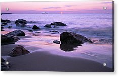 Millennium Sunrise Singing Beach Acrylic Print by Michael Hubley