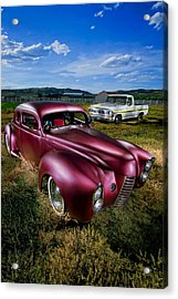 Millers Chop Shop 1940 Ford Coupe Acrylic Print