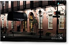 Mills House At Night Acrylic Print by John Rizzuto
