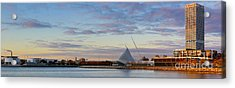 Acrylic Print featuring the photograph Milwaukee At Sunrise  by Ricky L Jones