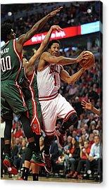 Milwaukee Bucks V Chicago Bulls - Game Acrylic Print by Jonathan Daniel