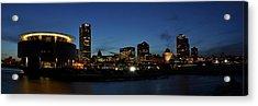 Acrylic Print featuring the photograph Milwaukee City Scape Panorama by Deborah Klubertanz