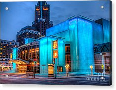 Milwaukee Pac Evening Glow Acrylic Print