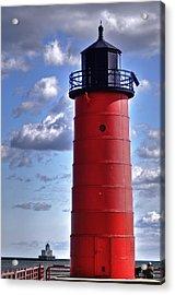 Acrylic Print featuring the photograph Milwaukee Pierhead Light by Deborah Klubertanz