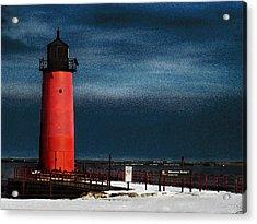 Milwaukee Pierhead Lighthouse Acrylic Print by David Blank