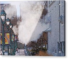 Milwaukee River Walk 1 - Winter 2013 Acrylic Print