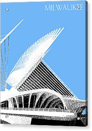 Milwaukee Skyline Art Museum - Light Blue Acrylic Print by DB Artist