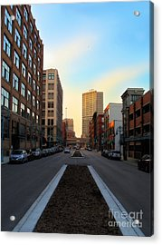 Milwaukee Street - Milwaukee Wi Acrylic Print by David Blank