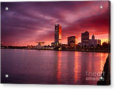 Milwaukee Sunset Acrylic Print