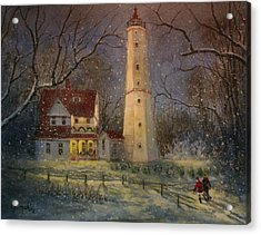 Milwaukee's North Point Lighthouse Acrylic Print by Tom Shropshire
