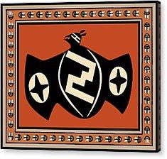Acrylic Print featuring the digital art Mimbres Tribal Bat Spirit by Vagabond Folk Art - Virginia Vivier