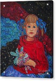 Mimi With Her Thumbelina Doll Acrylic Print