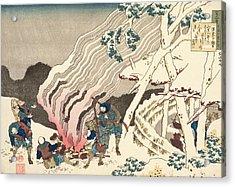 Minamoto No Muneyuki Ason Acrylic Print by Hokusai