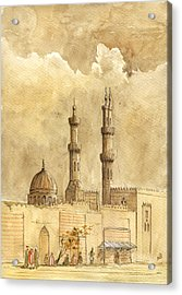 Minaret Of Al Azhar Mosque Acrylic Print by Juan  Bosco