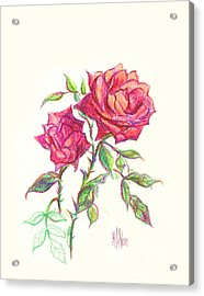 Minature Red Rose Acrylic Print by Kip DeVore