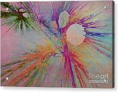 Mind Energy Aura Acrylic Print by Deborah Benoit