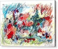 Acrylic Print featuring the painting Mind Games by Esther Newman-Cohen