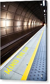 Mind The Gap Acrylic Print by Adam Pender