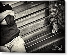 Acrylic Print featuring the photograph Mind The Gap by Michel Verhoef