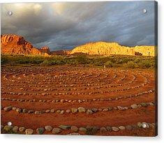 Mindfulness In St. George Utah Acrylic Print by Jean Marie Maggi