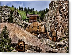 Mine On The Mountain Acrylic Print by Lana Trussell