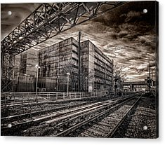 Acrylic Print featuring the photograph Mineola Station by Steve Zimic