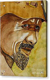 Miner Acrylic Print by Grant Mansel-James