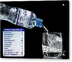Mineral Water And Its Mineral Content Acrylic Print by Martyn F. Chillmaid