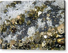 Minerals 4 Acrylic Print by T C Brown