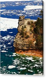 Miner's Castle In Spring Acrylic Print by Rachel Cohen