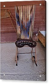 Acrylic Print featuring the photograph Miner's Rocker by Fran Riley