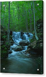 Miners Run Falls #1 - Evening Glow Acrylic Print