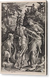 Minerva And Mercury Arm Perseus Acrylic Print