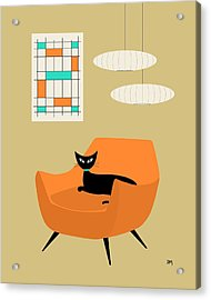 Mini Abstract With Orange Chair Acrylic Print