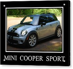 Mini Cooper Sport Acrylic Print by Kathy Sampson