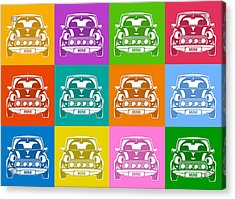 Mini Cooper Squares Acrylic Print
