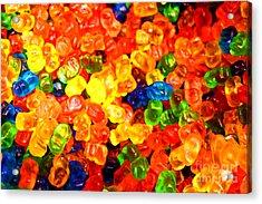 Mini Gummy Bears Acrylic Print
