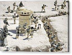Mini Hoth Battle Acrylic Print by Ricky Barnard