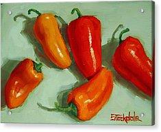 Mini Peppers Study 3 Acrylic Print