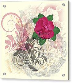 Mini Rose Flourish Acrylic Print