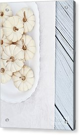 Mini White Pumpkins Acrylic Print
