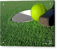 Miniature Golf Acrylic Print by Olivier Le Queinec