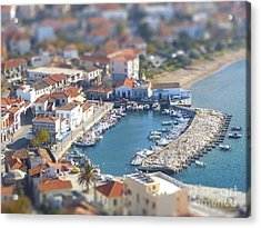 Miniature Port Acrylic Print by Vicki Spindler