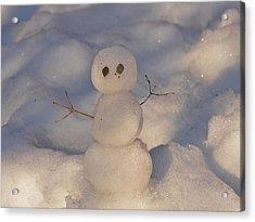 Miniature Snowman Landscape Acrylic Print
