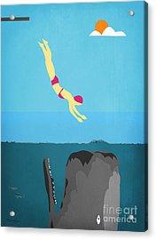 Minimal Sea Life  Acrylic Print