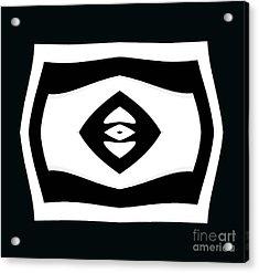 Minimalism Black White Geometric Abstract Art No.284. Acrylic Print by Drinka Mercep