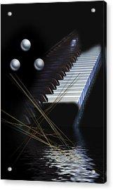 Minimalism Piano Acrylic Print by Angel Jesus De la Fuente