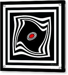 Minimalist Art Black White Red No.17 Acrylic Print by Drinka Mercep