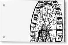 Minimalist Ferris Wheel Acrylic Print
